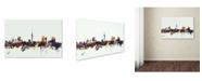 "Trademark Global Michael Tompsett 'Auckland New Zealand Skyline' Canvas Art - 12"" x 19"""
