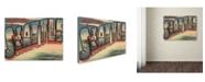 "Trademark Global Lantern Press 'Post Card 15' Canvas Art - 14"" x 19"""