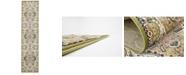 Bridgeport Home Zara Zar2 Green 3' x 13' Runner Area Rug