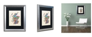 "Trademark Global Michael Tompsett 'Scotland Typography Text Map' Matted Framed Art - 16"" x 20"""