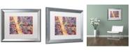 """Trademark Global Michael Tompsett 'Liverpool England Street Map 2' Matted Framed Art - 16"""" x 20"""""""