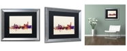 "Trademark Global Michael Tompsett 'Manchester England Skyline' Matted Framed Art - 16"" x 20"""