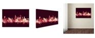 "Trademark Global Michael Tompsett 'Chicago IL Skyline Maroon' Canvas Art - 16"" x 24"""