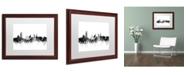"Trademark Global Michael Tompsett 'Sheffield England Skyline B&W' Matted Framed Art - 16"" x 20"""