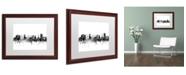 """Trademark Global Michael Tompsett 'Nottingham England Skyline B&W' Matted Framed Art - 16"""" x 20"""""""