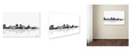 """Trademark Global Marlene Watson 'Buffalo New York Skyline BG-1' Canvas Art - 16"""" x 24"""""""