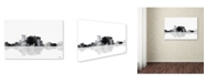 "Trademark Global Marlene Watson 'El Paso Mexico Skyline BG-1' Canvas Art - 16"" x 24"""