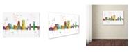 "Trademark Global Marlene Watson 'Jacksonville Florida Skyline Mclr-1' Canvas Art - 16"" x 24"""