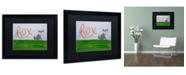 """Trademark Global Nicole Dietz 'Fox Sky' Matted Framed Art - 16"""" x 20"""""""