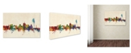 "Trademark Global Michael Tompsett 'Geneva Switzerland Skyline' Canvas Art - 16"" x 24"""
