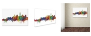 "Trademark Global Michael Tompsett 'Santorini Skyline II' Canvas Art - 16"" x 24"""