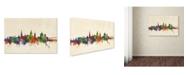 "Trademark Global Michael Tompsett 'Annapolis Maryland Skyline' Canvas Art - 16"" x 24"""