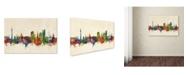 "Trademark Global Michael Tompsett 'Dortmund Germany Skyline II' Canvas Art - 16"" x 24"""