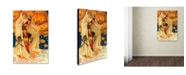 "Trademark Global Vintage Apple Collection 'Halloween Beauty Pumpkins' Canvas Art - 16"" x 24"""
