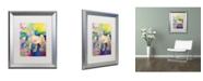 "Trademark Global Richard Wallich 'Unicorn' Matted Framed Art - 16"" x 20"""