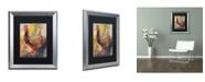 """Trademark Global Richard Wallich 'Art Rooster 1' Matted Framed Art - 16"""" x 20"""""""