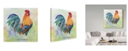"""Trademark Global Jean Plout 'Watercolor Rooster Orange' Canvas Art - 18"""" x 18"""""""