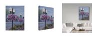 "Trademark Global Rusty Frentner 'Floral Street Lamps' Canvas Art - 18"" x 24"""