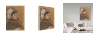 "Trademark Global Edgar Degas 'Madame Dietzmonnin' Canvas Art - 19"" x 14"""