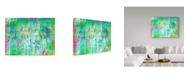 "Trademark Global Jennifer Mccully 'Birds On A Wire' Canvas Art - 24"" x 18"""