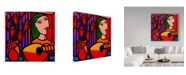 "Trademark Global John Nolan 'Homage To Picasso 2' Canvas Art - 14"" x 14"""