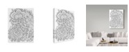 "Trademark Global Jessica Putnam 'Floral 25' Canvas Art - 24"" x 32"""