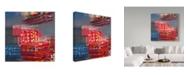"Trademark Global Hooshang Khorasani 'Color Storm' Canvas Art - 24"" x 24"""