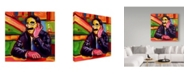 "Trademark Global Howie Green 'Groucho Marx' Canvas Art - 14"" x 14"""
