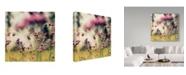 "Trademark Global Incredi 'Magic Of Pink' Canvas Art - 14"" x 14"""