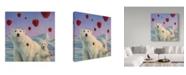 "Trademark Global James W. Johnson 'Polar Berries' Canvas Art - 14"" x 14"""