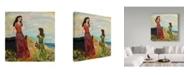 "Trademark Global Janelle Nichol 'A Quiet Afternoon' Canvas Art - 18"" x 18"""