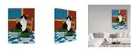 "Trademark Global Jan Panico 'Sweet Peas And Garden Peas' Canvas Art - 24"" x 32"""