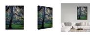 """Trademark Global J.D. Mcfarlan 'Forsyth Pk, Savannah' Canvas Art - 14"""" x 19"""""""