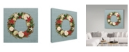 "Trademark Global Jean Plout 'Beachy Christmas 2' Canvas Art - 14"" x 14"""