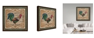 """Trademark Global Jean Plout 'Old World Rooster 4' Canvas Art - 14"""" x 14"""""""