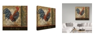 "Trademark Global Jean Plout 'Le Coq 8' Canvas Art - 18"" x 18"""