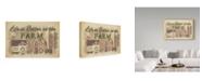 "Trademark Global Jean Plout 'Farm Life 2' Canvas Art - 19"" x 12"""