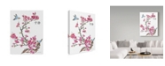 "Trademark Global Jean Plout 'Cherry Blossom Serenity Birds' Canvas Art - 14"" x 19"""