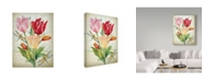 "Trademark Global Jean Plout 'Tulip Botanicals 1' Canvas Art - 18"" x 24"""