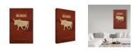 "Trademark Global Red Atlas Designs 'State Animal Oklahoma' Canvas Art - 12"" x 19"""