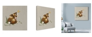 "Trademark Global Peggy Harris 'Tiny Bunny' Canvas Art - 14"" x 14"""