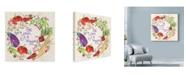 "Trademark Global Lisa Powell Braun 'Veggies' Canvas Art - 18"" x 18"""