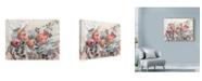 "Trademark Global Marietta Cohen Art And Design 'White Line Floral' Canvas Art - 24"" x 18"""