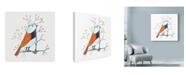 """Trademark Global Michelle Campbell 'Bird Design 3' Canvas Art - 18"""" x 18"""""""