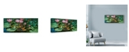 "Trademark Global Michael Jackson 'Lily Pond Flowers' Canvas Art - 19"" x 8"""