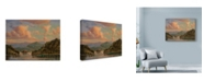 "Trademark Global Wanda Mumm 'Sailing On Lake Orta' Canvas Art - 19"" x 14"""