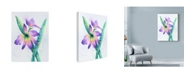 """Trademark Global Michelle Faber 'Purple Orchid On White' Canvas Art - 14"""" x 19"""""""