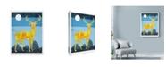 "Trademark Global Ric Stultz 'Standing Tall Geometric Deer' Canvas Art - 14"" x 19"""