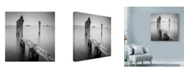 "Trademark Global Nina Papiorek 'Venice Path' Canvas Art - 14"" x 14"""