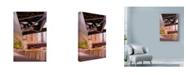 "Trademark Global Njr Photos 'Under The Metal Bridge' Canvas Art - 22"" x 32"""